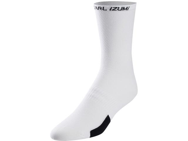 PEARL iZUMi Elite Tall Socks Men, blanco